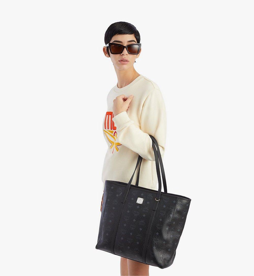 MCM Toni Shopper in Visetos Black MWPAATN03BK001 Alternate View 2