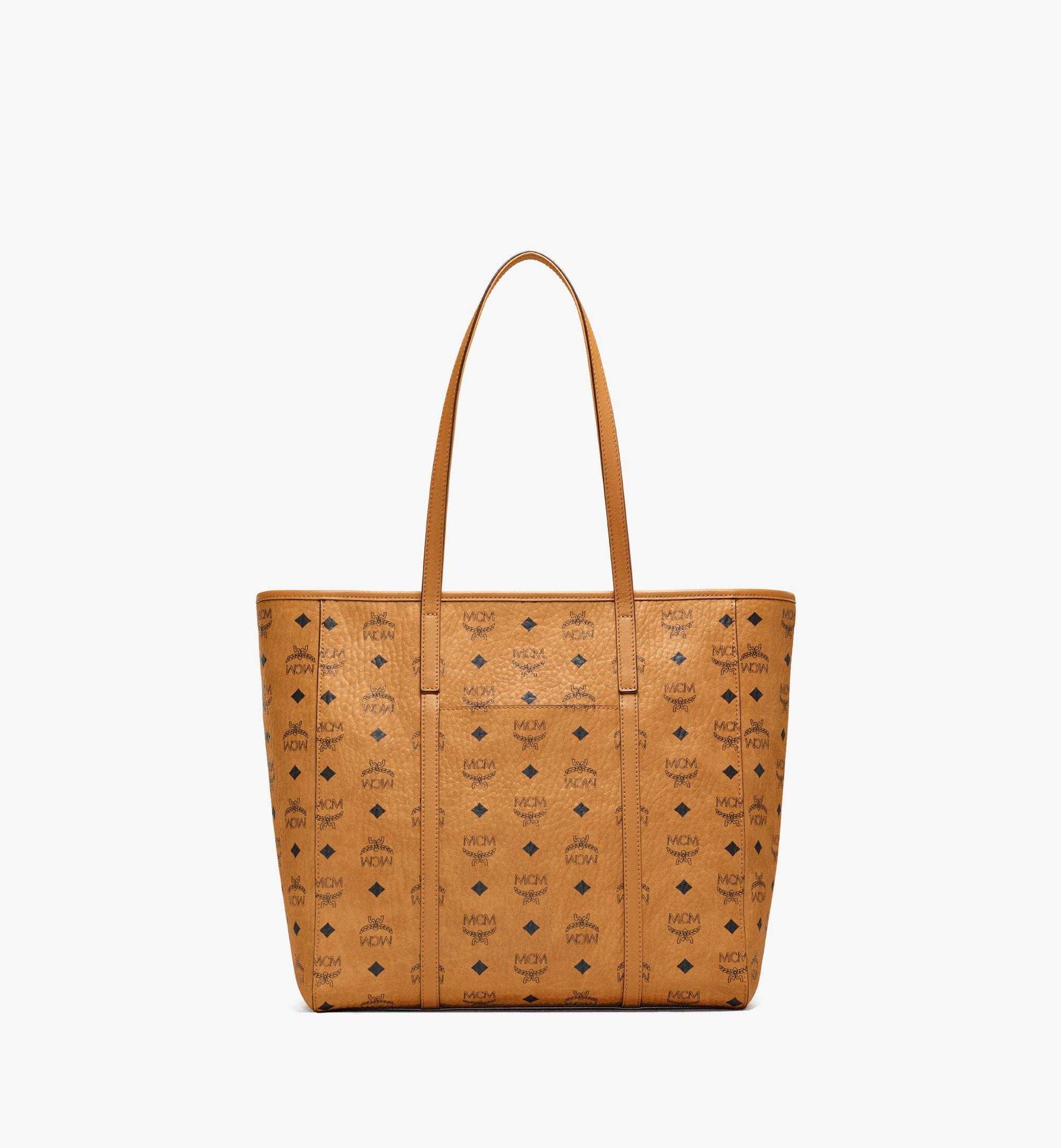 MCM Toni Shopper in Visetos Cognac MWPAATN03CO001 Alternate View 4