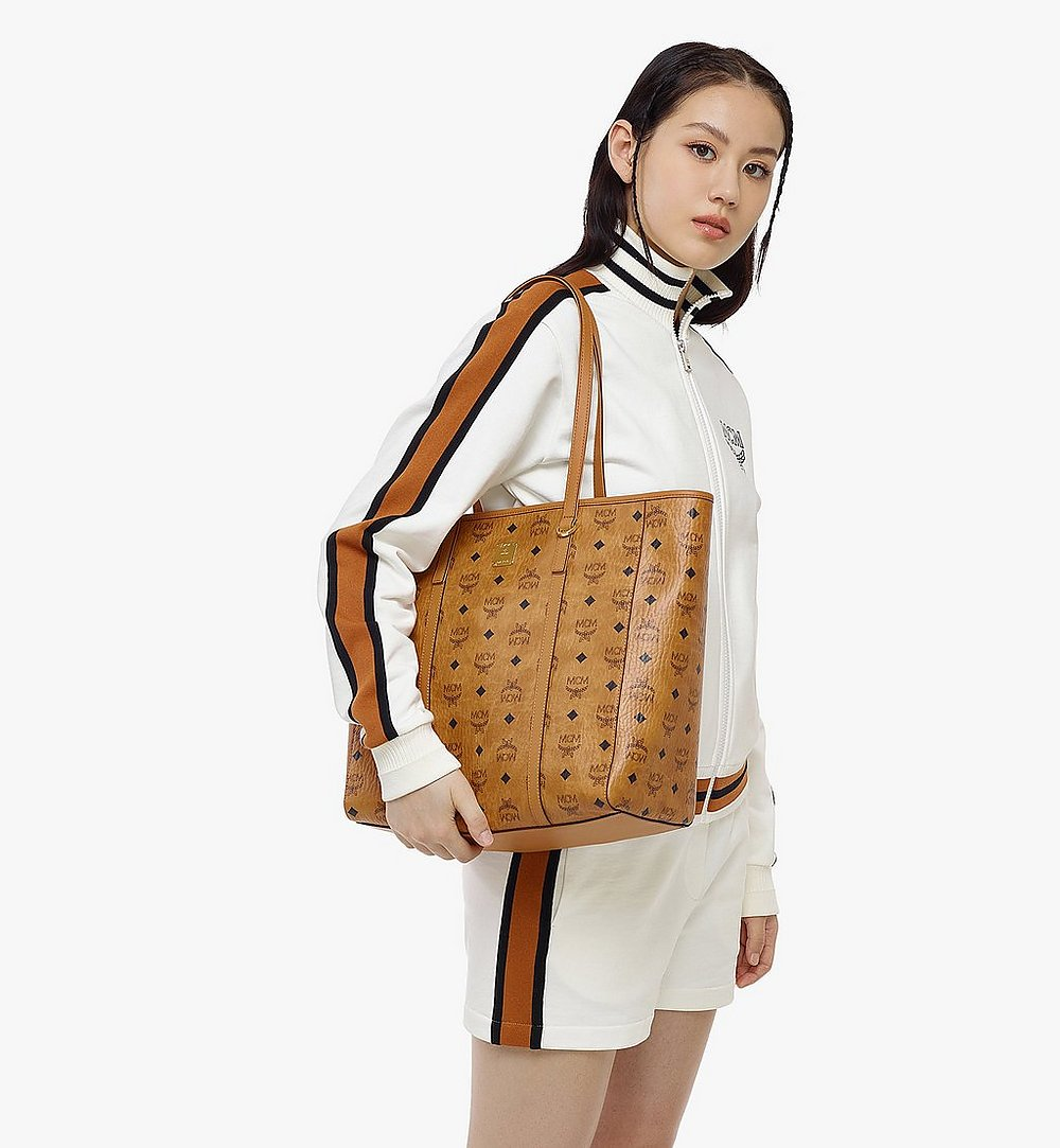 MCM Toni Shopper in Visetos Cognac MWPAATN03CO001 Alternate View 3