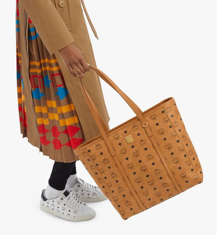 MCM Toni Shopper in Visetos Cognac MWPAATN03CO001 Alternate View 6
