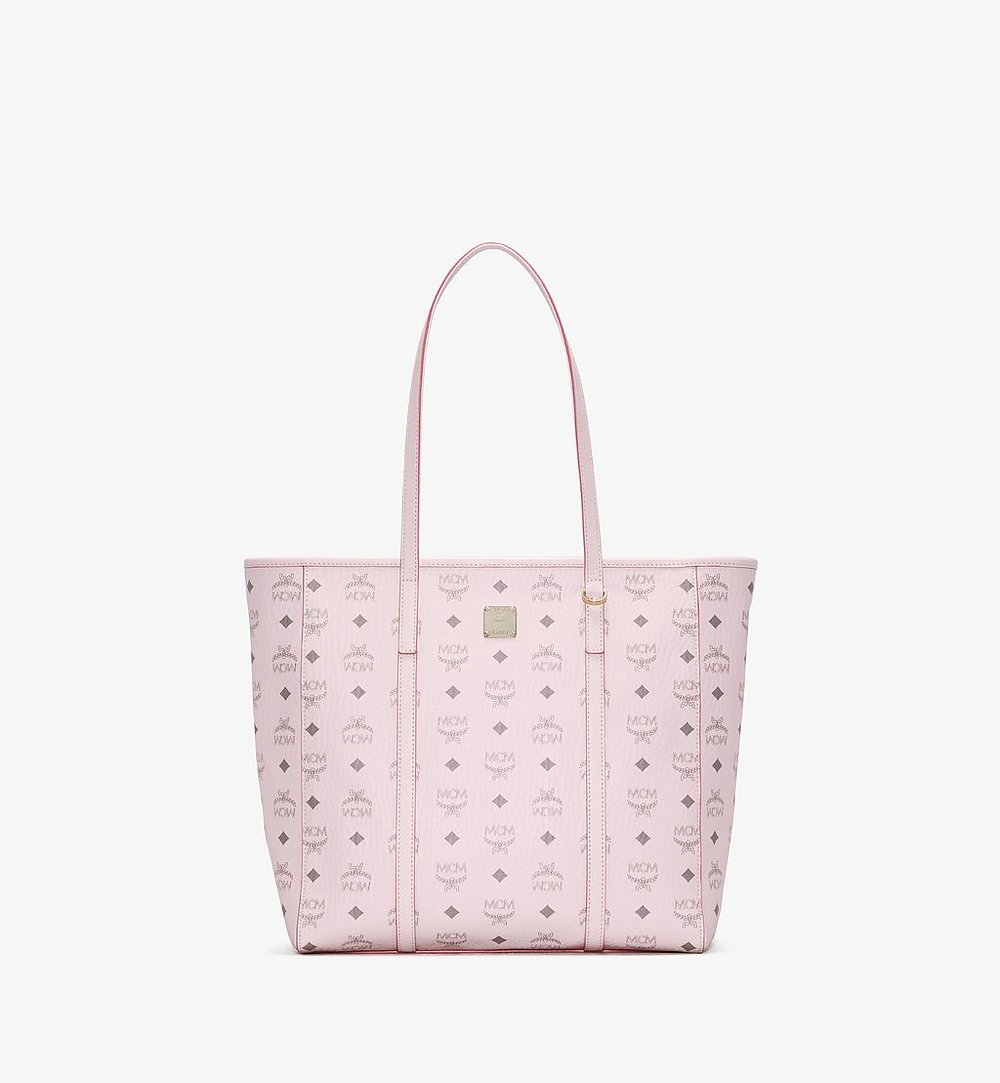 MCM Toni Shopper in Visetos Pink MWPAATN03QH001 Alternate View 1