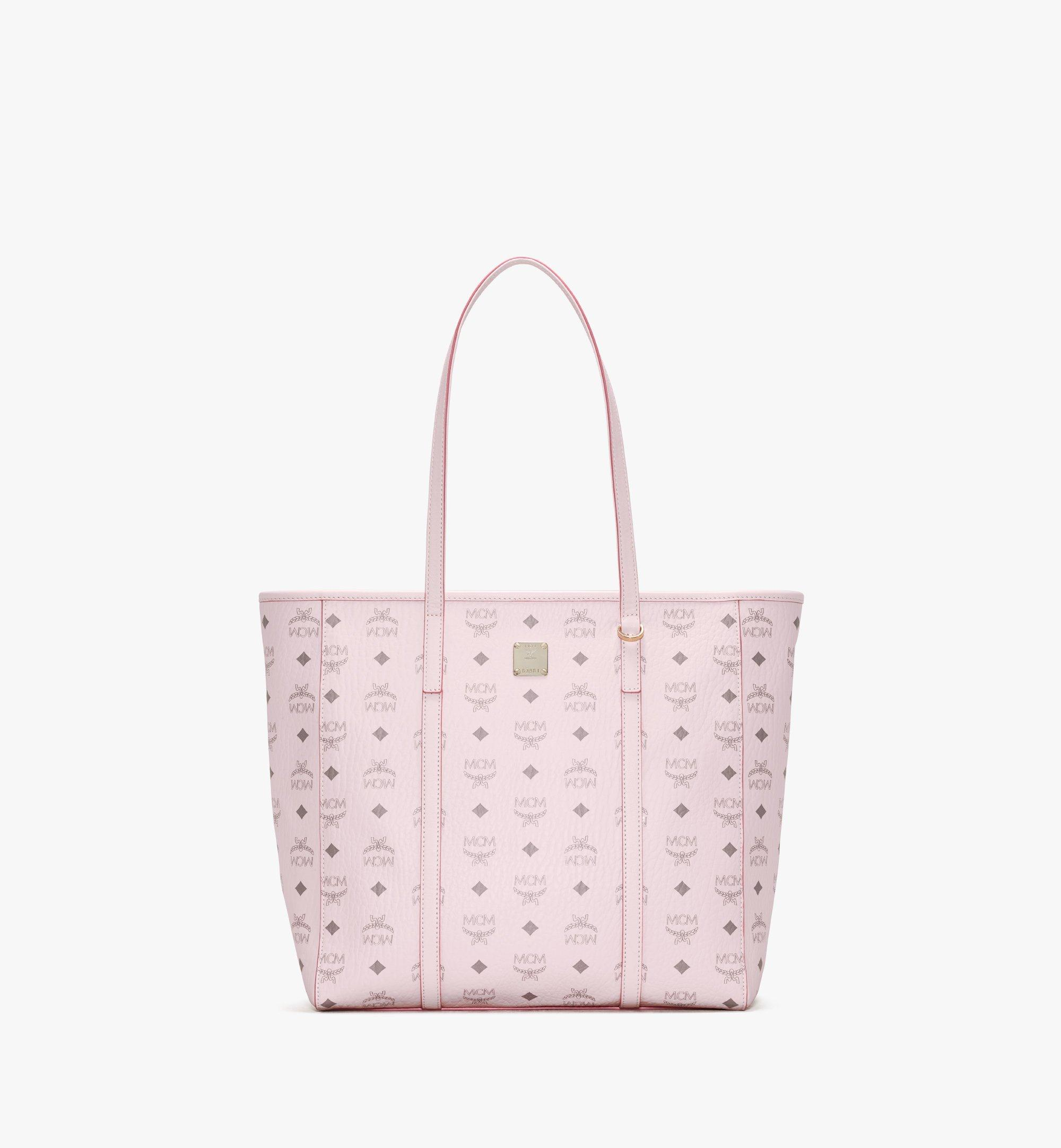 MCM Toni Shopper in Visetos Pink MWPAATN03QH001 Alternate View 1