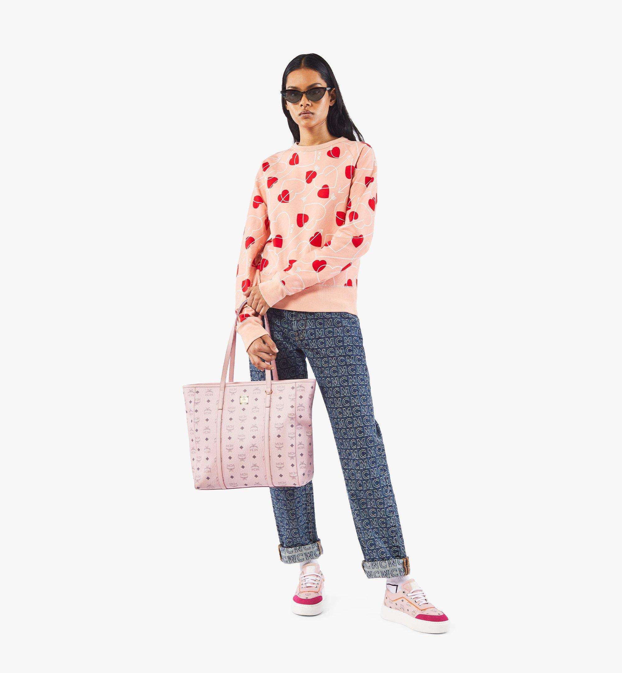 MCM Toni Shopper in Visetos Pink MWPAATN03QH001 Alternate View 5