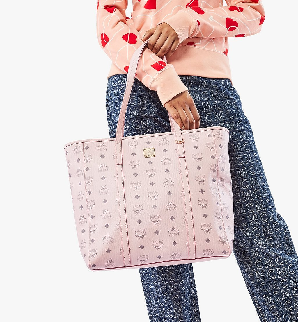 MCM Toni Shopper in Visetos Pink MWPAATN03QH001 Alternate View 2