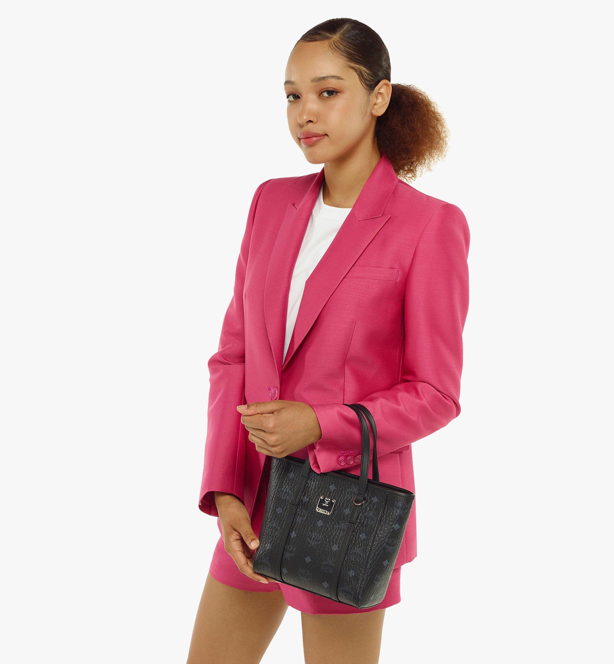 MCM Toni Shopper in Visetos Black MWPAATN04BK001 Alternate View 4