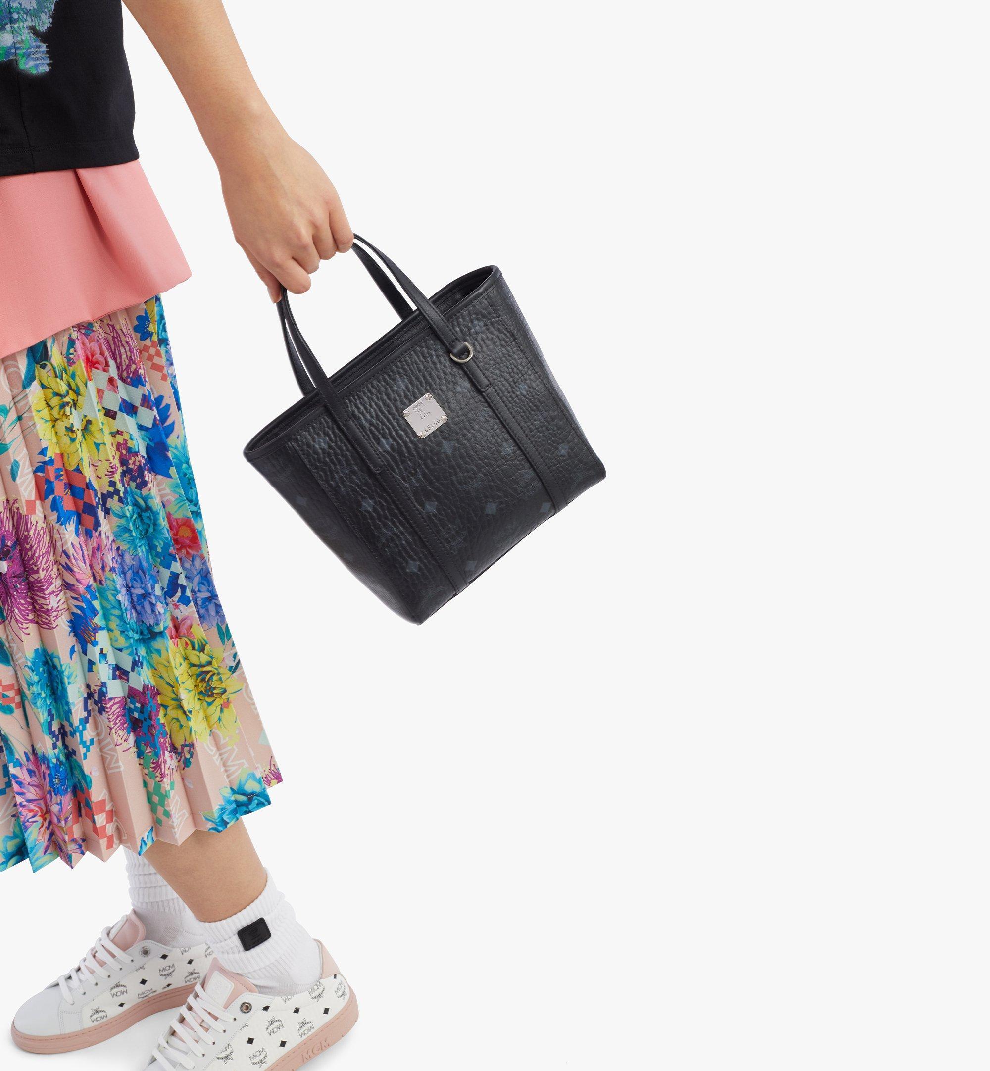 MCM Toni Shopper in Visetos Black MWPAATN04BK001 Alternate View 2