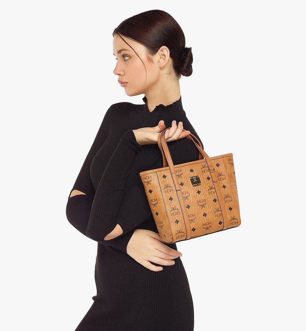 MCM Toni Shopper in Visetos Cognac MWPAATN04CO001 Alternate View 4
