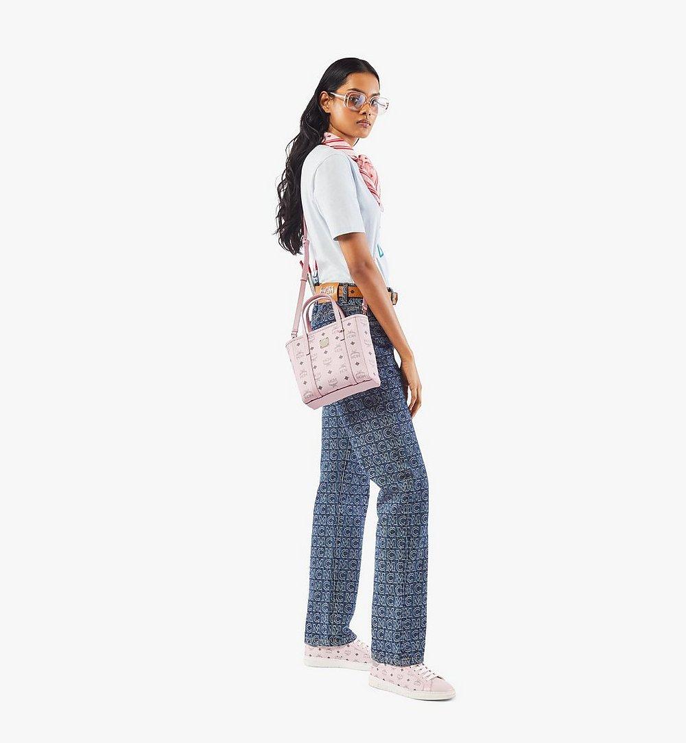 MCM Toni Shopper in Visetos Pink MWPAATN04QH001 Alternate View 3