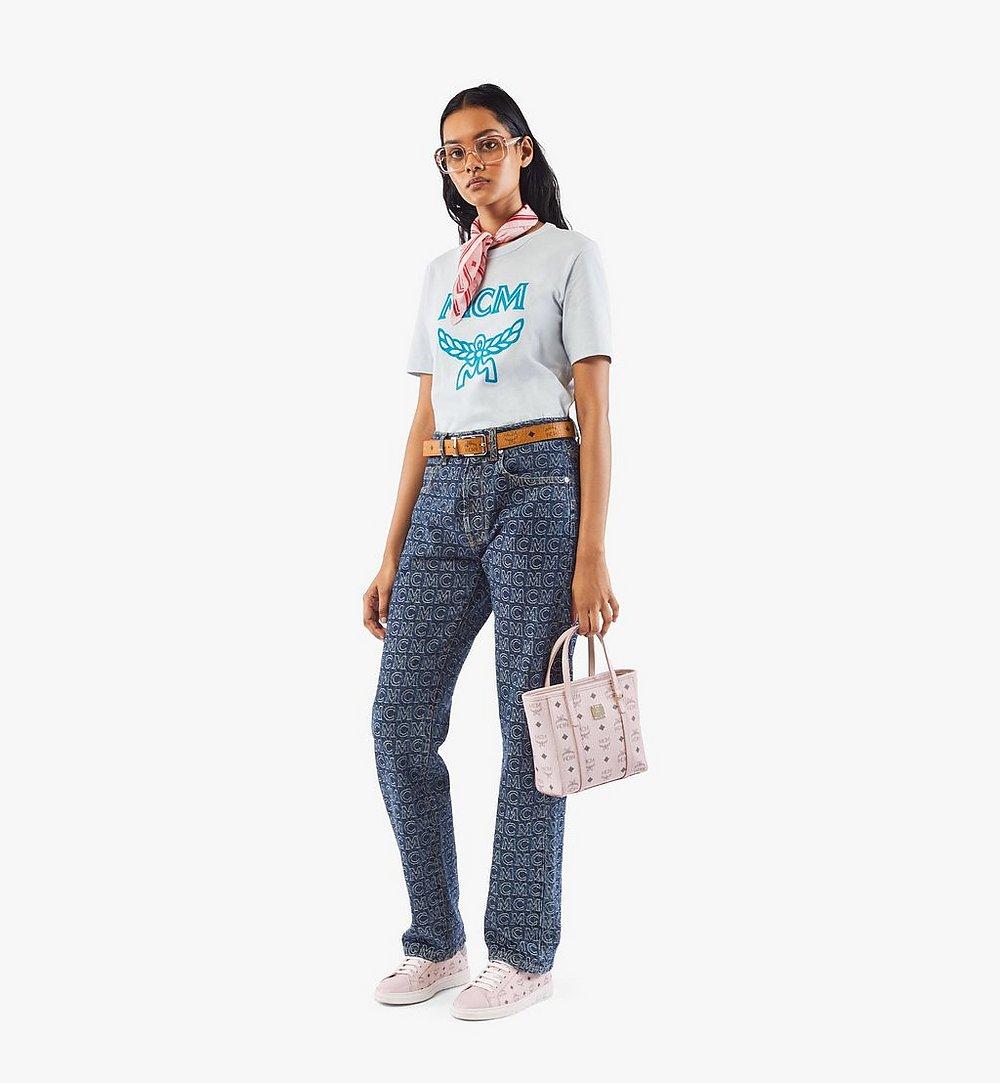 MCM Toni Shopper in Visetos Pink MWPAATN04QH001 Alternate View 4