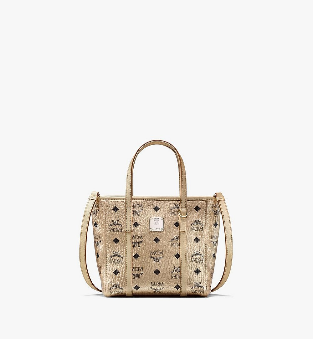 MCM Toni Shopper in Visetos Gold MWPAATN05T1001 Alternate View 1