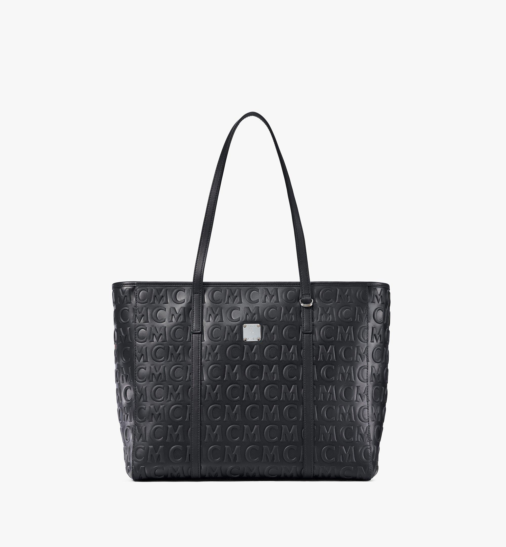 MCM Toni Shopper aus Leder mit MCM-Monogramm Black MWPAATN06BK001 Noch mehr sehen 1