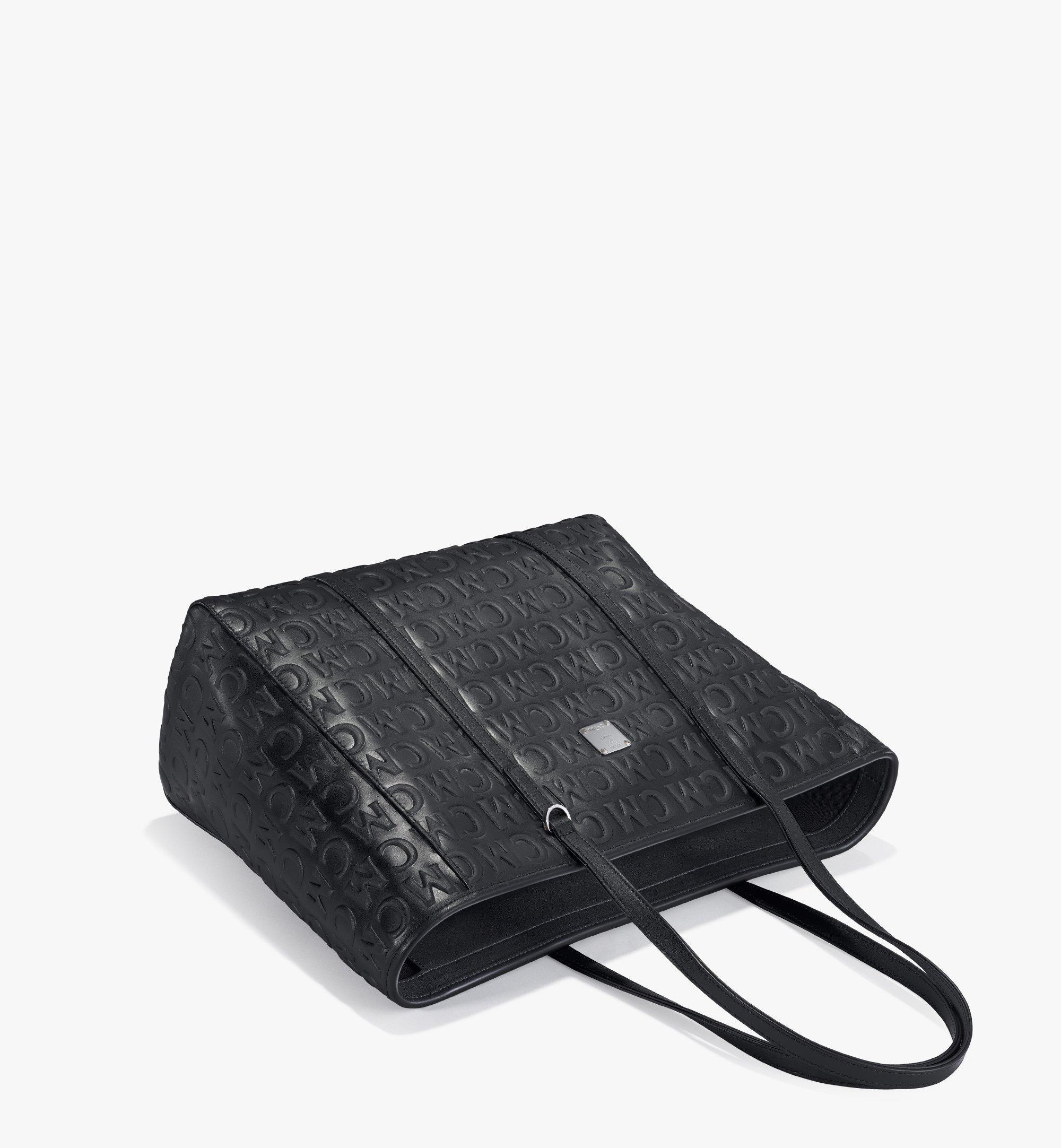 MCM Toni Shopper aus Leder mit MCM-Monogramm Black MWPAATN06BK001 Noch mehr sehen 2