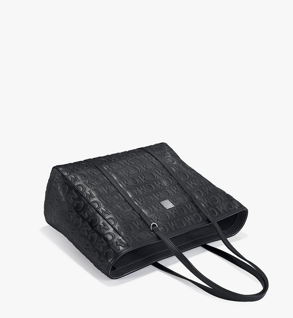 MCM Toni Shopper in MCM Monogram Leather Black MWPAATN06BK001 Alternate View 2