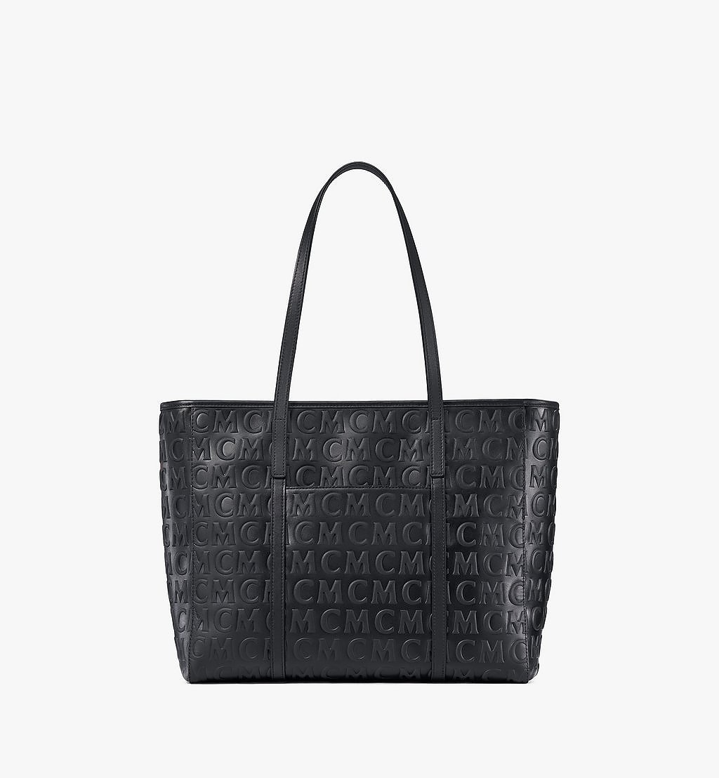 MCM Toni Shopper in MCM Monogram Leather Black MWPAATN06BK001 Alternate View 3