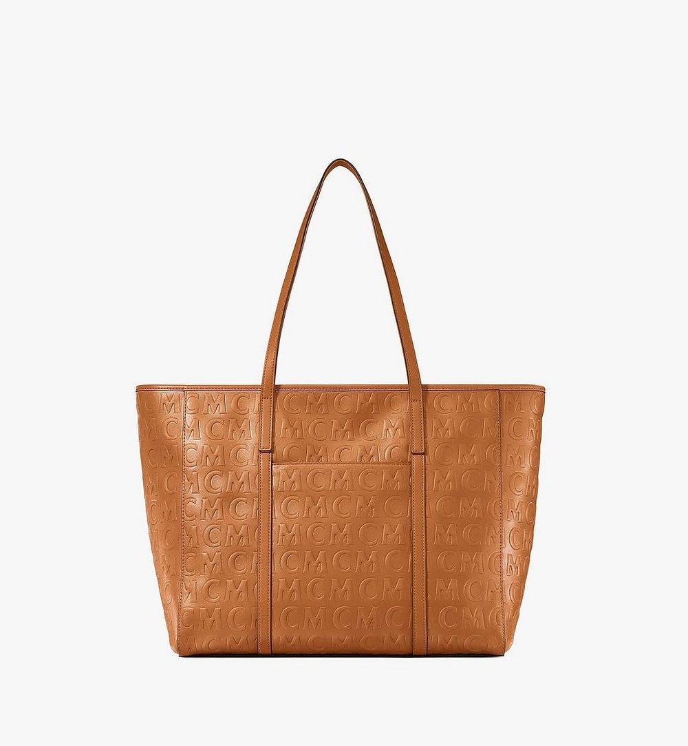 MCM Toni Shopper aus Leder mit MCM-Monogramm Cognac MWPAATN06CO001 Noch mehr sehen 3
