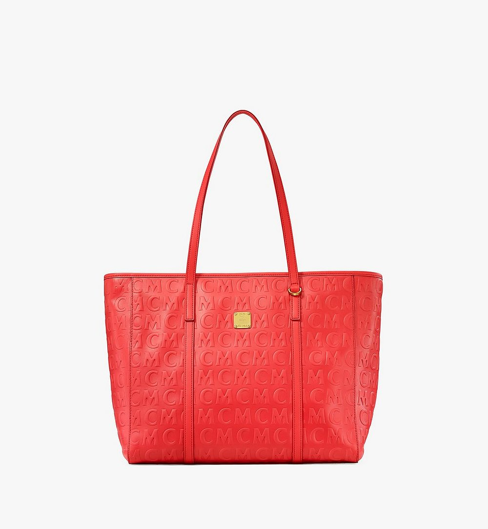 MCM Toni Shopper in MCM Monogram Leather Red MWPAATN06RP001 Alternate View 1