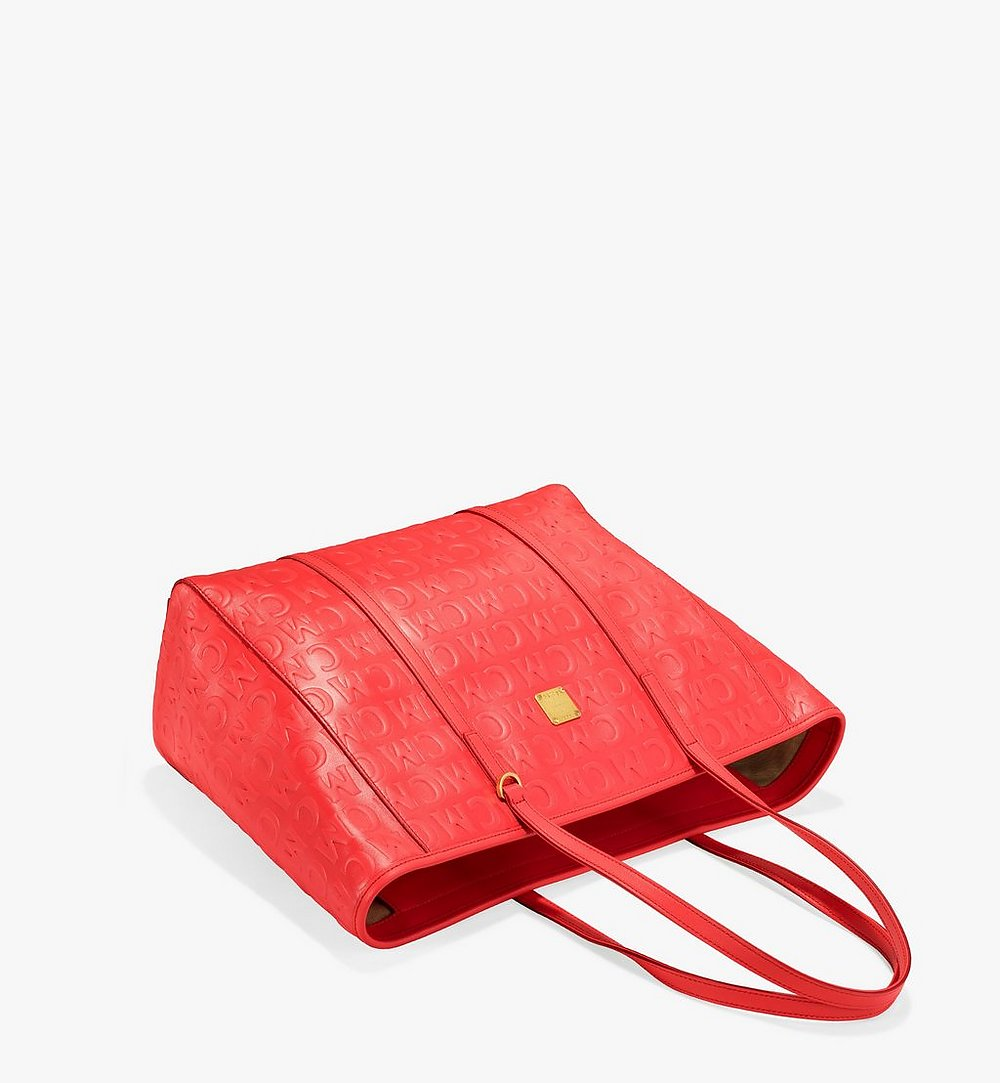 MCM Toni Shopper in MCM Monogram Leather Red MWPAATN06RP001 Alternate View 2