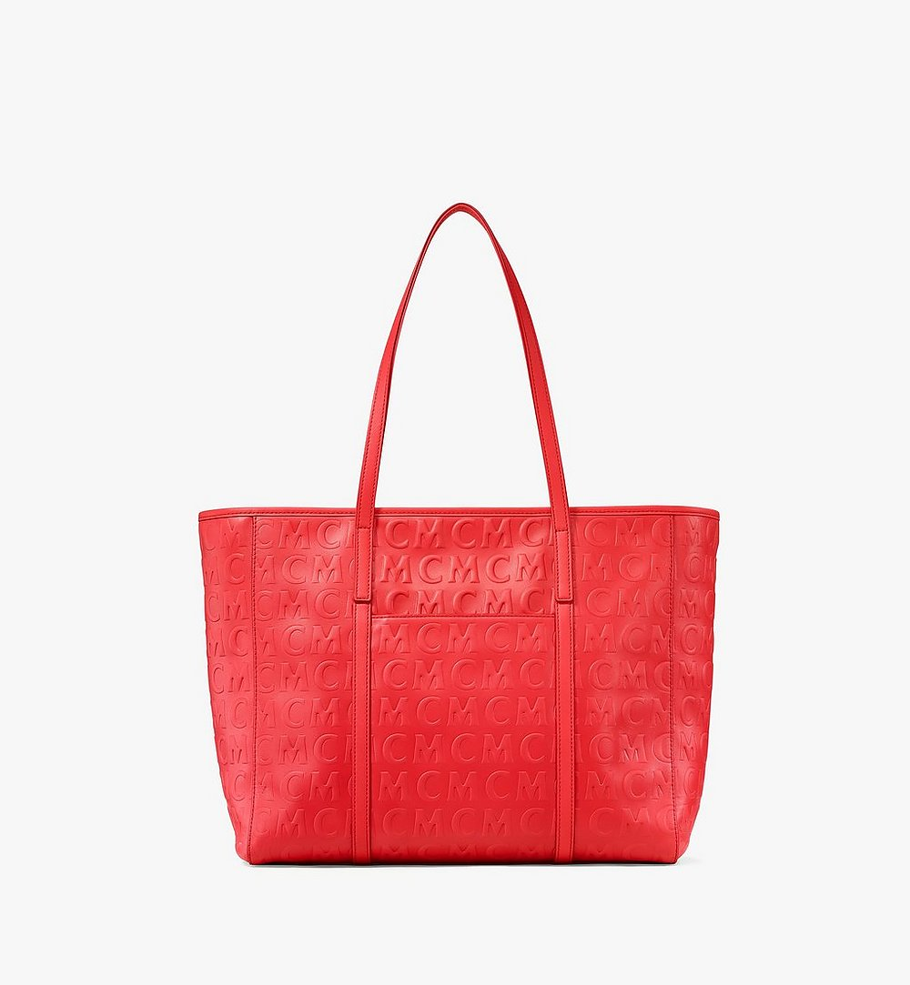 MCM Toni Shopper in MCM Monogram Leather Red MWPAATN06RP001 Alternate View 3
