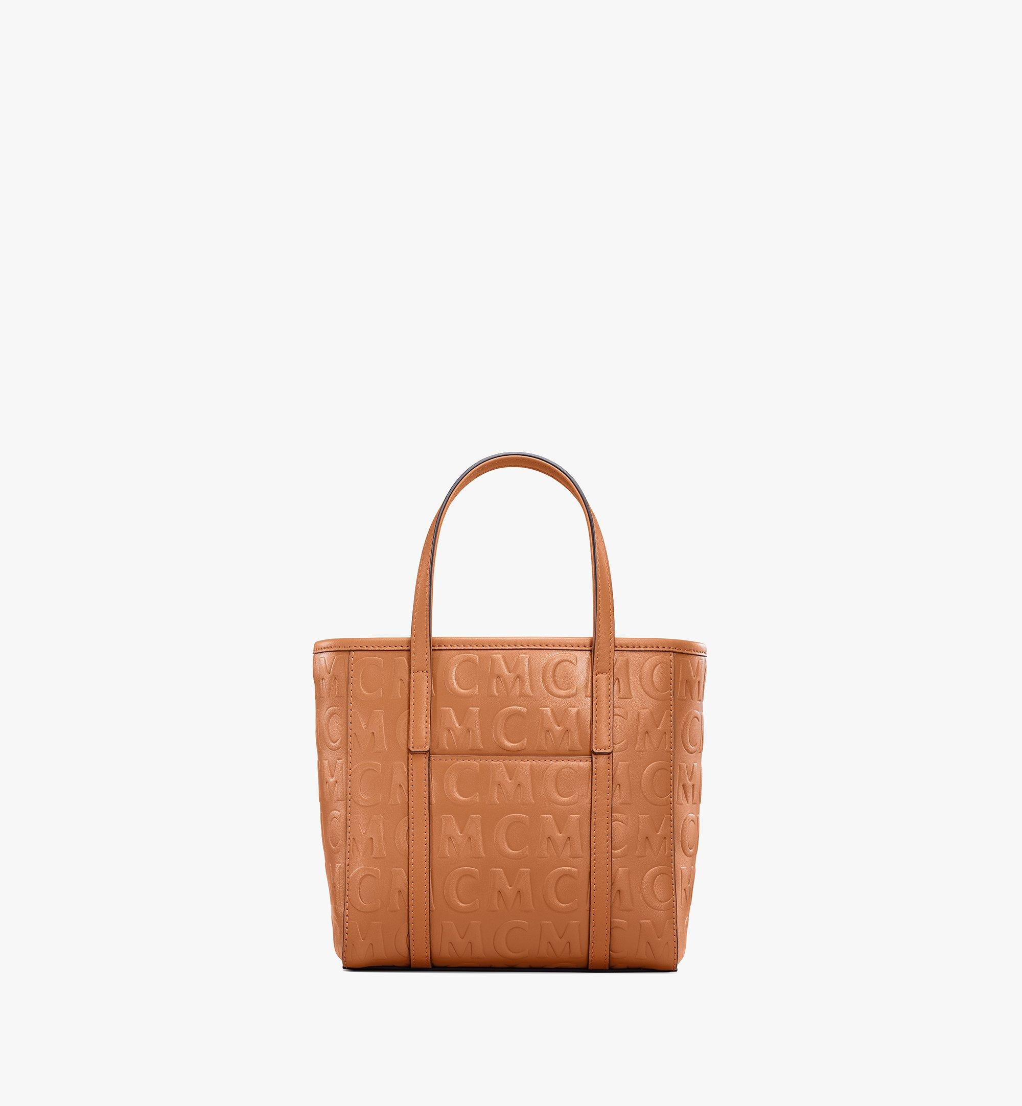 MCM Toni Shopper in MCM Monogram Leather Cognac MWPAATN07CO001 Alternate View 3