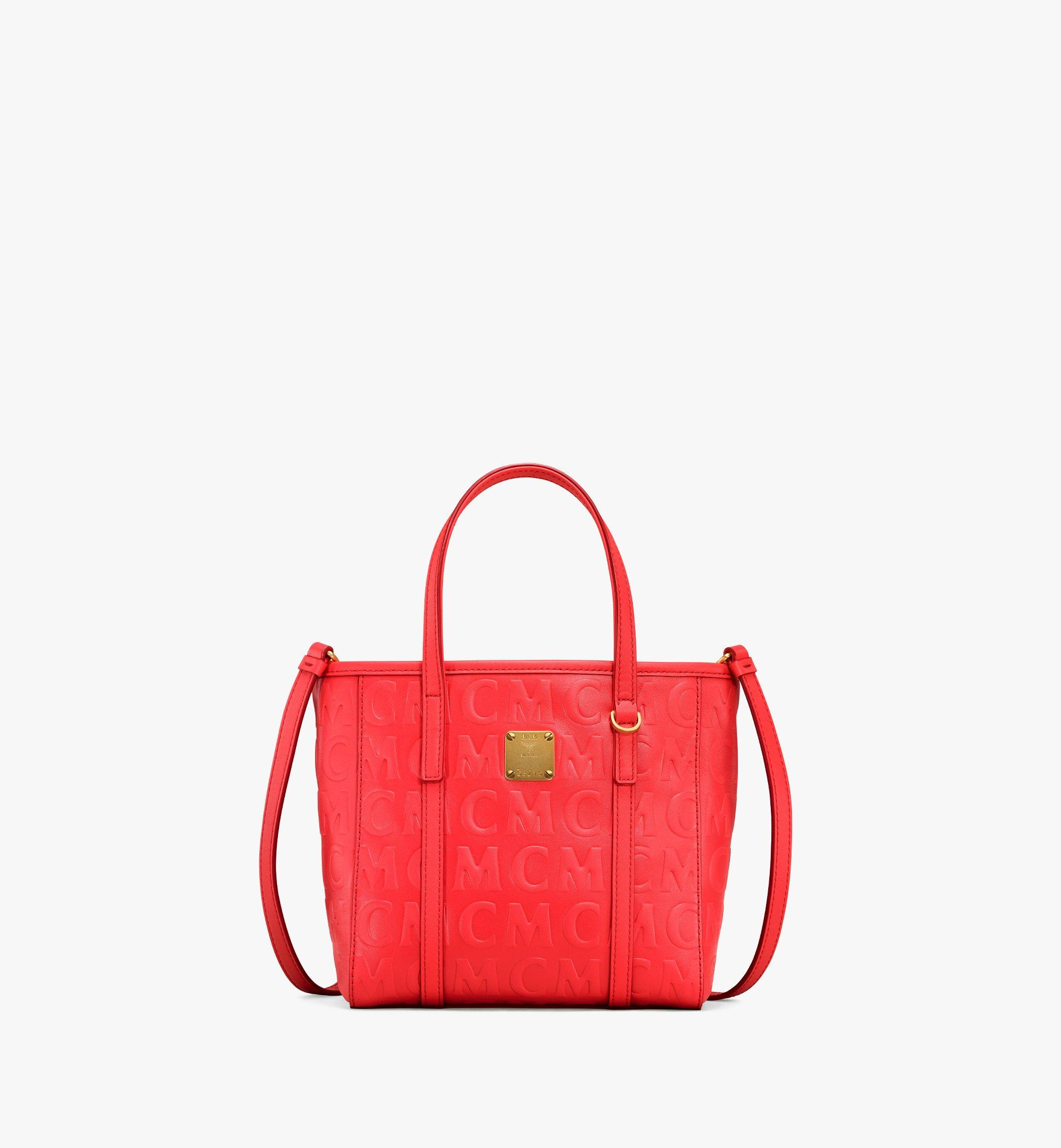 MCM Toni Shopper in MCM Monogram Leather Red MWPAATN07RP001 Alternate View 1