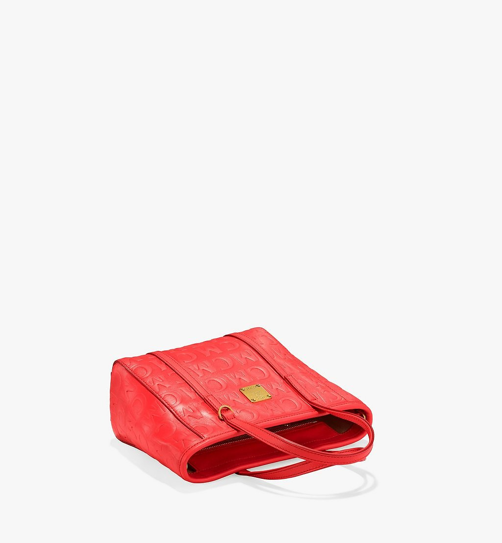 MCM Toni Shopper in MCM Monogram Leather Red MWPAATN07RP001 Alternate View 2