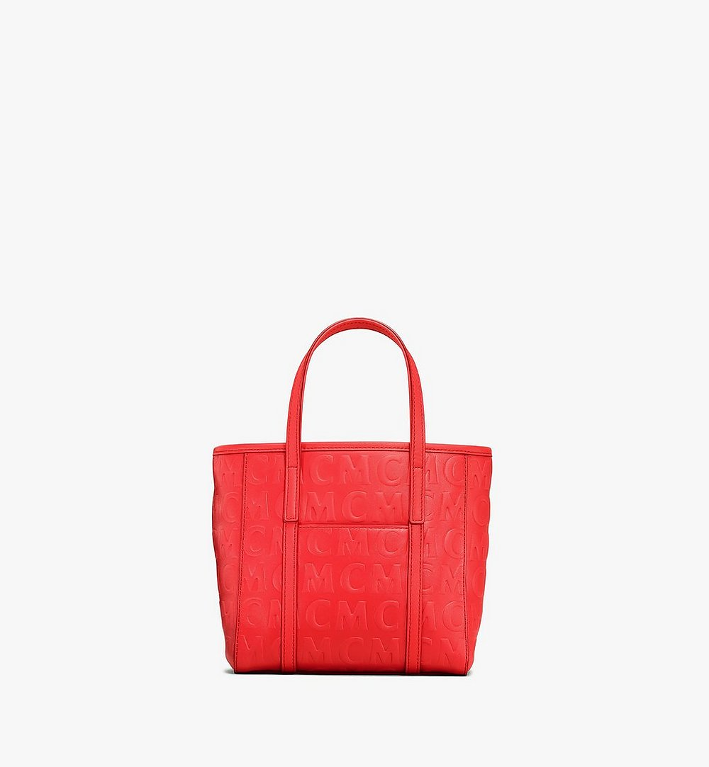 MCM Toni Shopper in MCM Monogram Leather Red MWPAATN07RP001 Alternate View 3