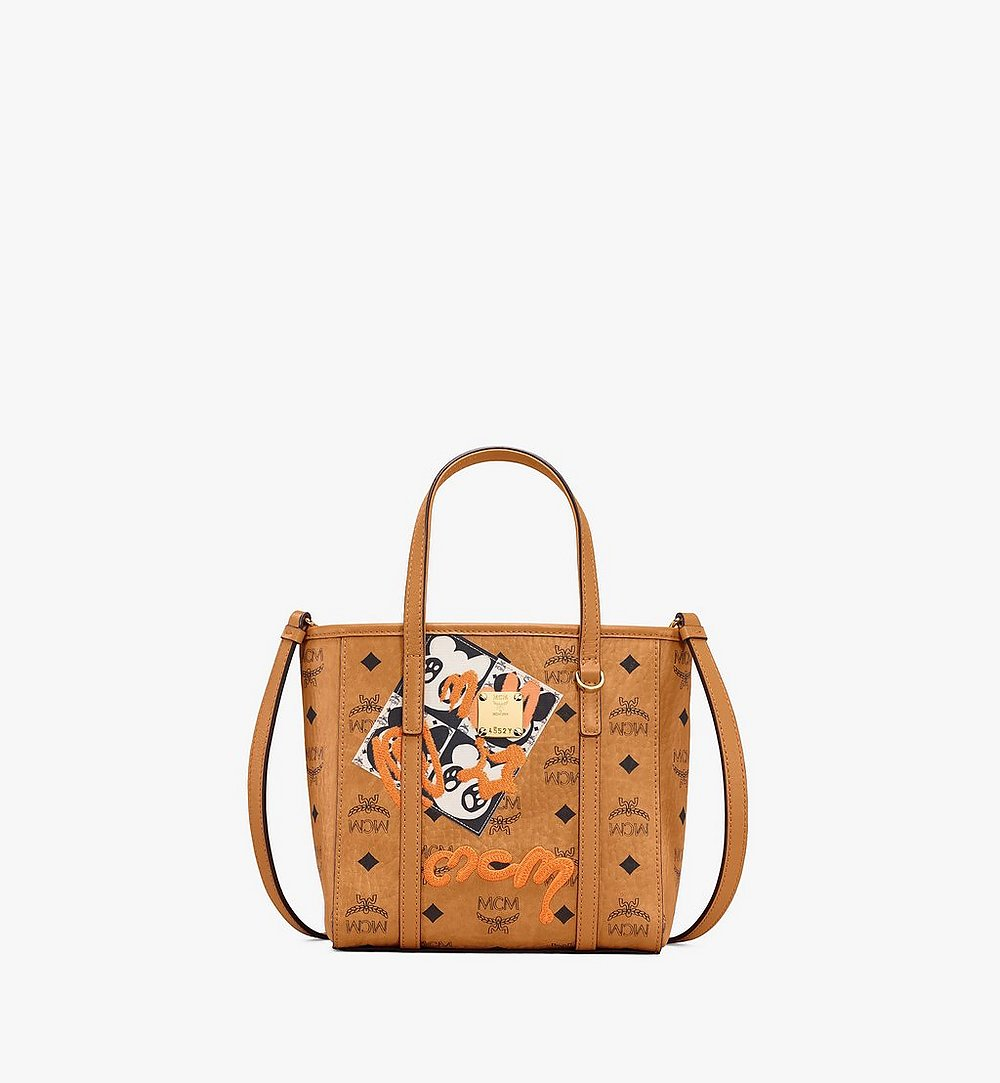 MCM Toni Shopper in Berlin Bear Visetos Cognac MWPAATN10CO001 Alternate View 1
