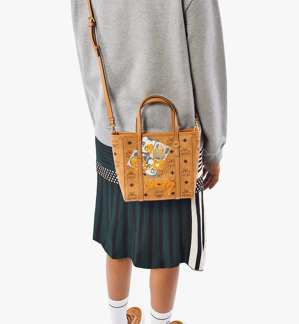MCM Toni Shopper in Berlin Bear Visetos Cognac MWPAATN10CO001 Alternate View 2