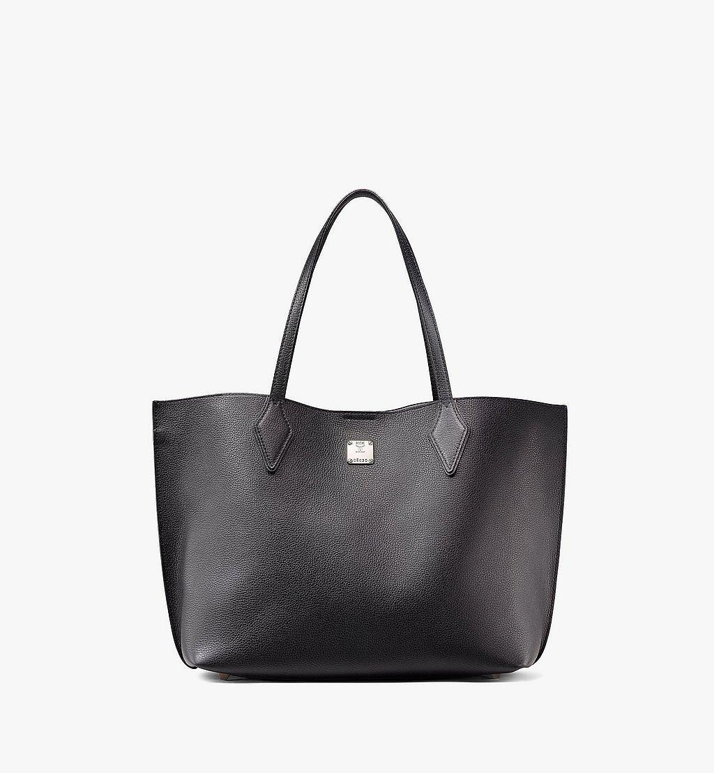 MCM Yris Shopper in Tani Leather Black MWPAAYS01BK001 Alternate View 1