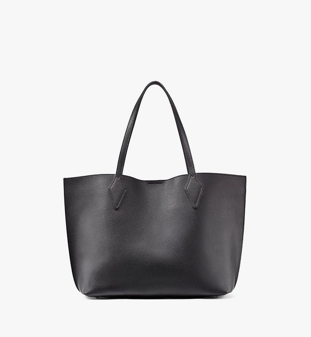 MCM Yris Shopper in Tani Leather Black MWPAAYS01BK001 Alternate View 3
