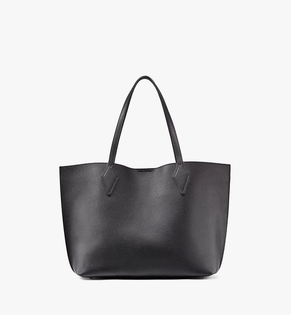 MCM Yris Shopper in Tani Leather Black MWPAAYS01BK001 Alternate View 3