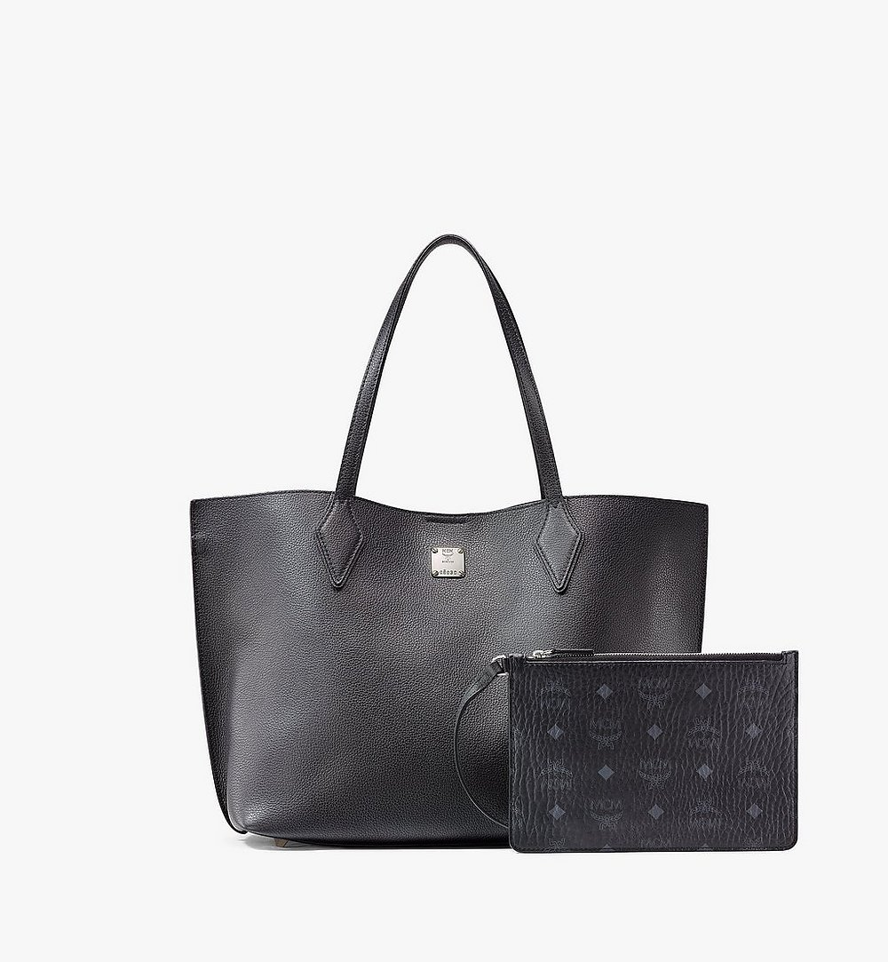 MCM Yris Shopper in Tani Leather Black MWPAAYS01BK001 Alternate View 4