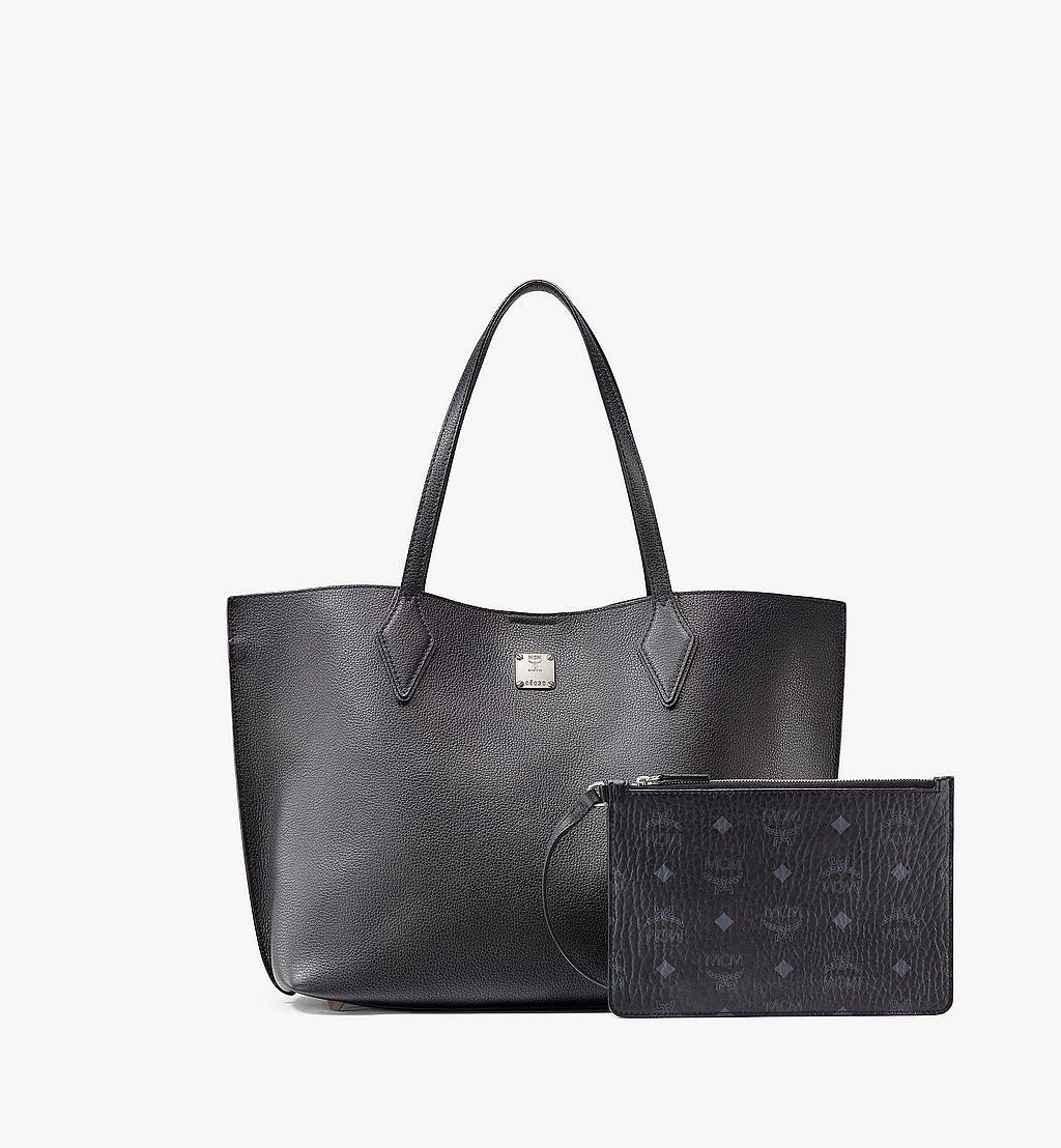 MCM Yris Shopper in Tani Leather Black MWPAAYS01BK001 Alternate View 4