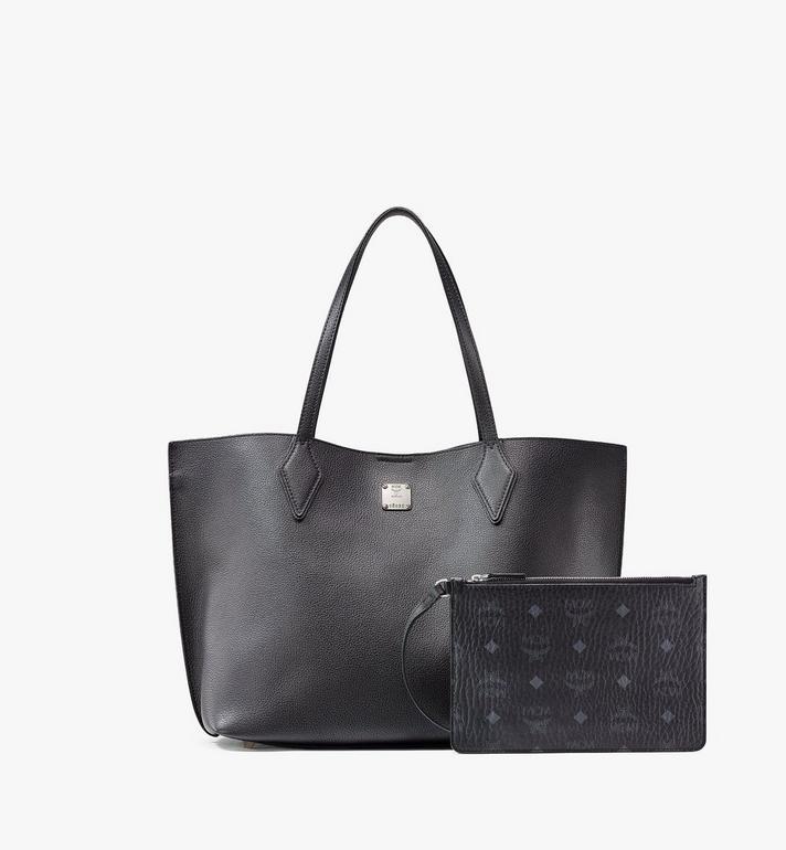 MCM Yris Shopper in Tani Leather Black MWPAAYS01BK001 Alternate View 6