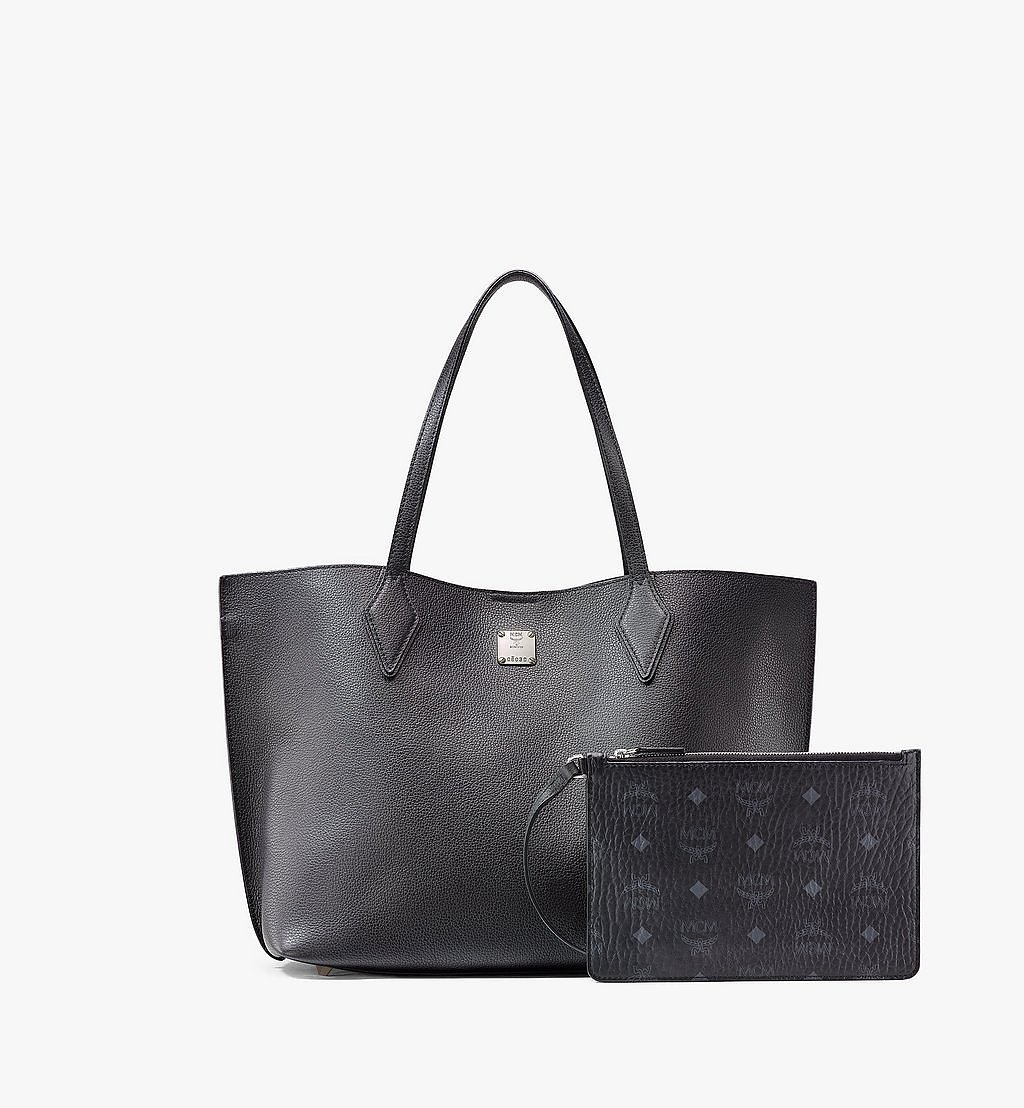 MCM Yris Shopper in Tani Leather Black MWPAAYS01BK001 Alternate View 5