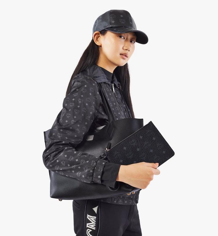 MCM Yris Shopper in Tani Leather Black MWPAAYS01BK001 Alternate View 8