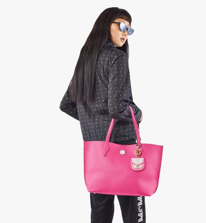 MCM Yris Shopper in Tani Leather Pink MWPAAYS01QJ001 Alternate View 8