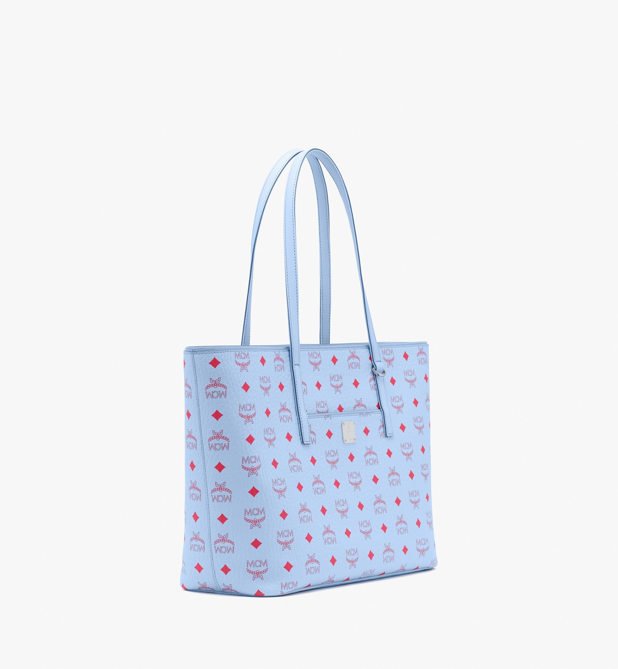 Medium Anya Shopper in Visetos Blue Bell   MCM® DE