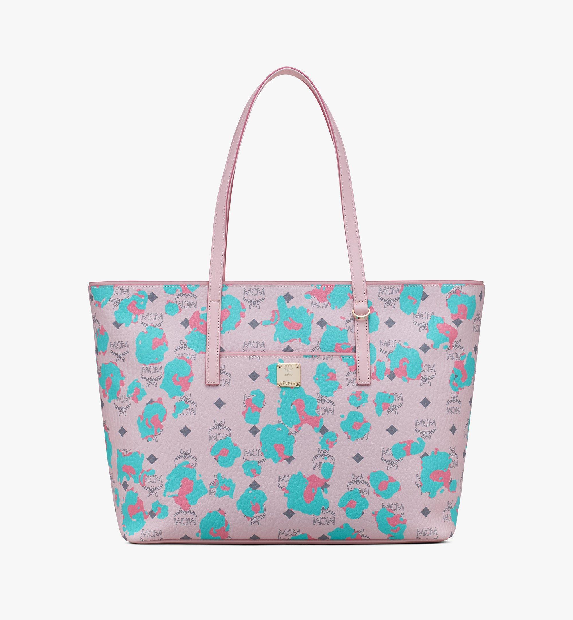 MCM 碎花豹紋Anya購物袋 Pink MWPASVI03QI001 更多視圖 1
