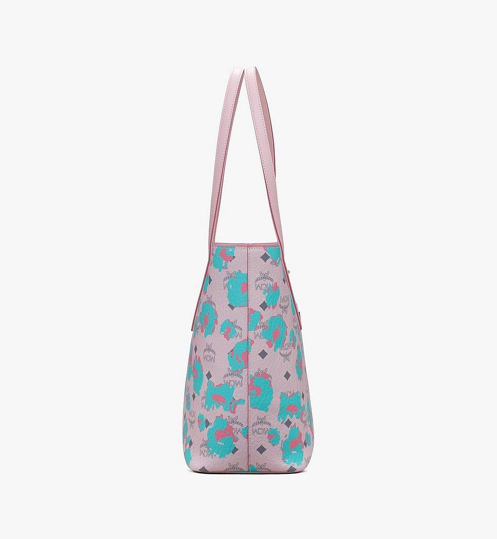MCM Anya Shopper in Floral Leopard Pink MWPASVI03QI001 Alternate View 1