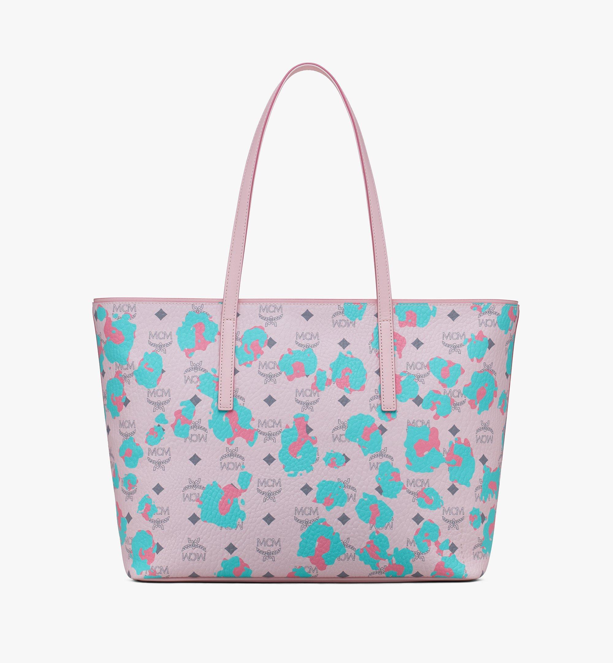 MCM 碎花豹紋Anya購物袋 Pink MWPASVI03QI001 更多視圖 2