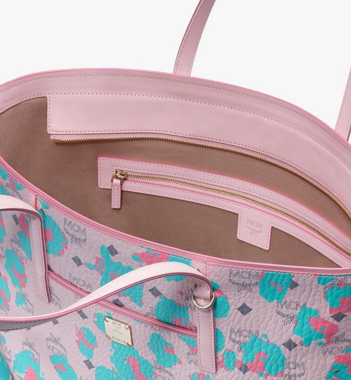MCM Anya Shopper in Floral Leopard Pink MWPASVI03QI001 Alternate View 4