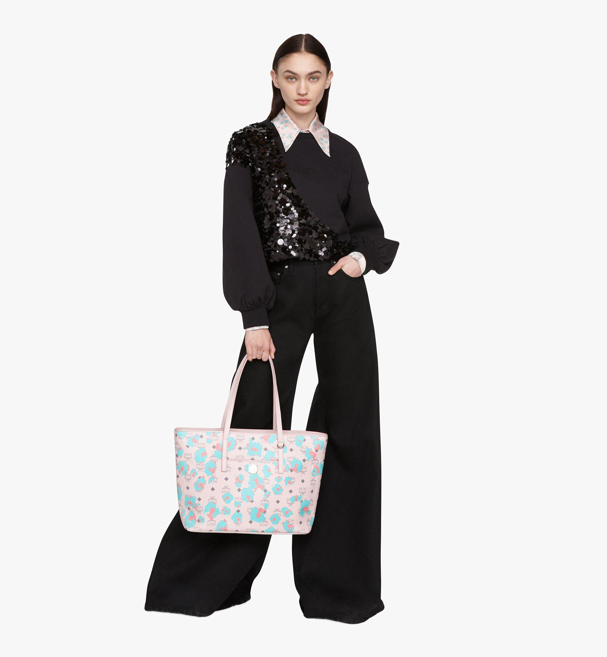 Medium Anya Shopper mit geblümtem Leopardenmuster Leoforal