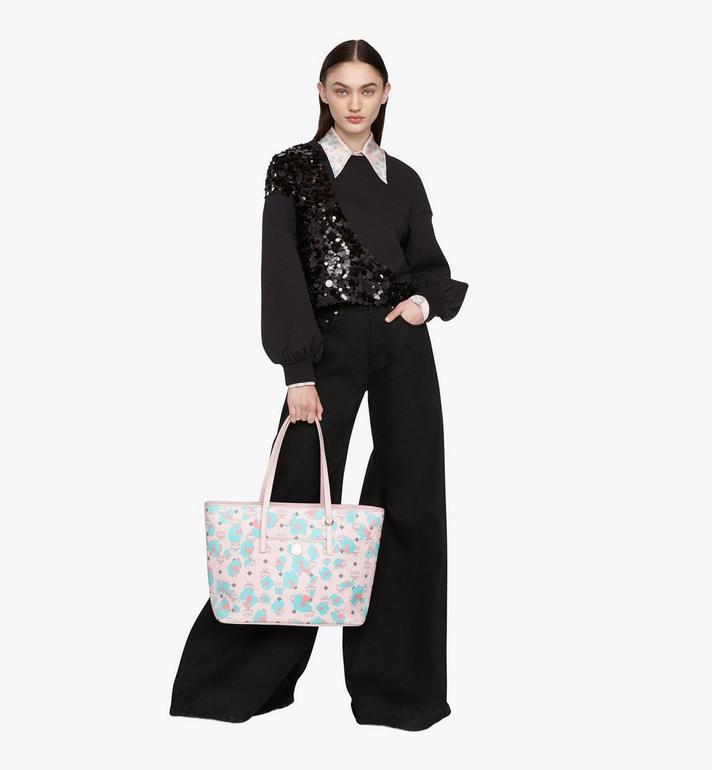 MCM Anya Shopper in Floral Leopard Pink MWPASVI03QI001 Alternate View 5
