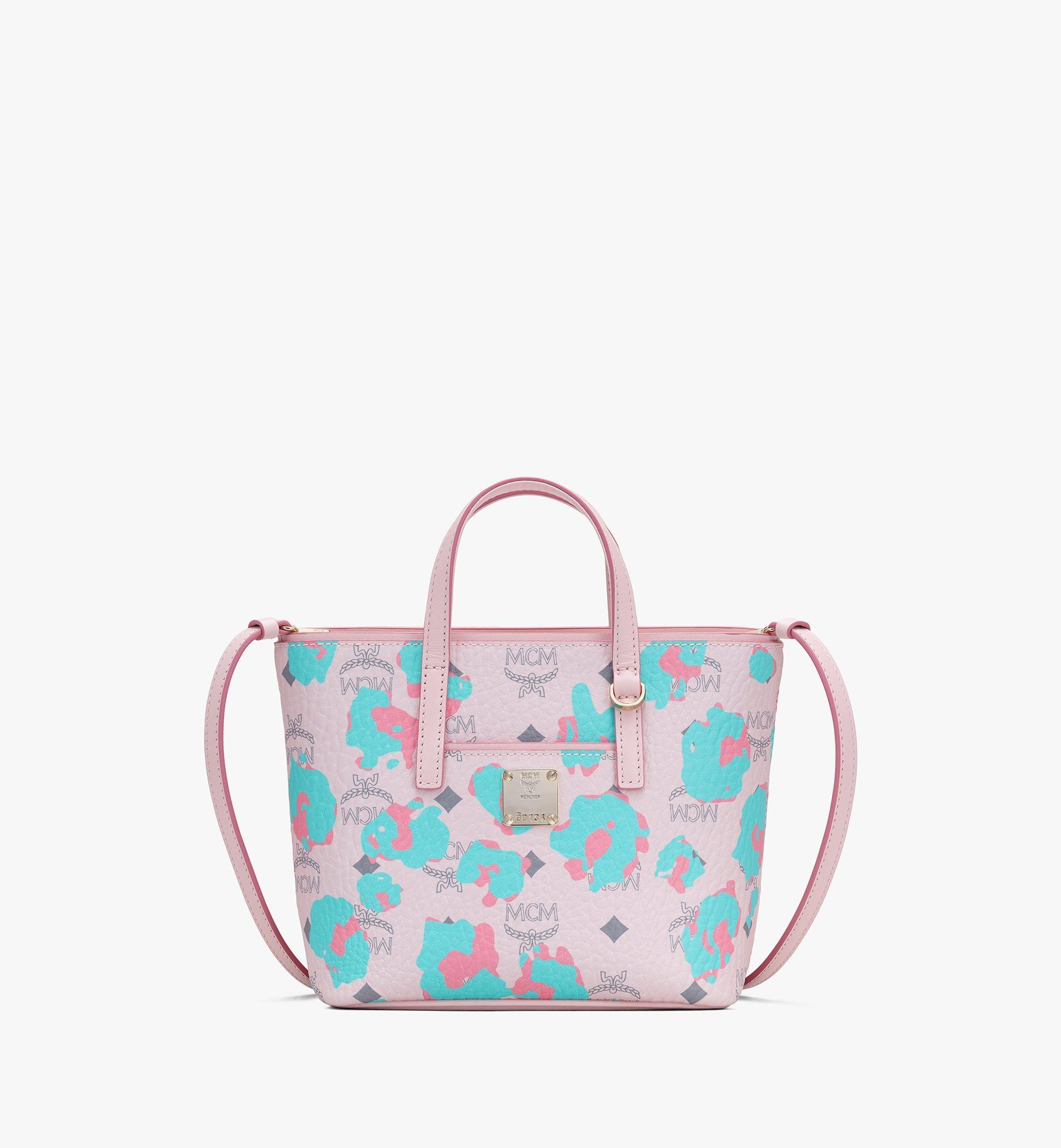 MCM Anya Shopper in Floral Leopard Pink MWPASVI04QI001 Alternate View 1