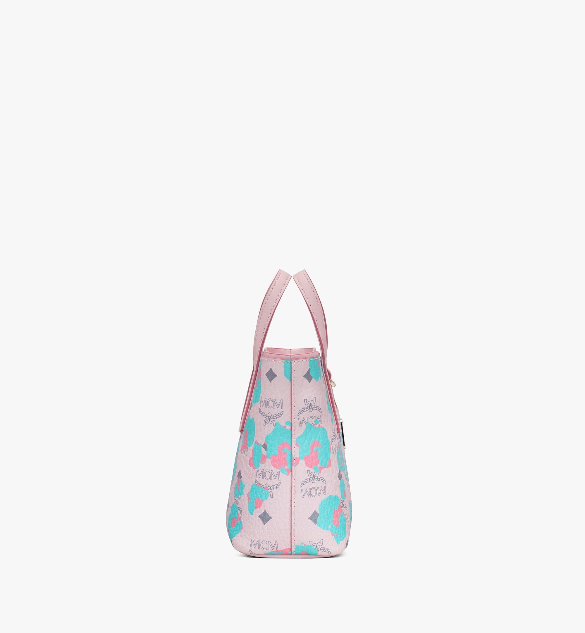 MCM Anya Shopper in Floral Leopard Pink MWPASVI04QI001 Alternate View 2