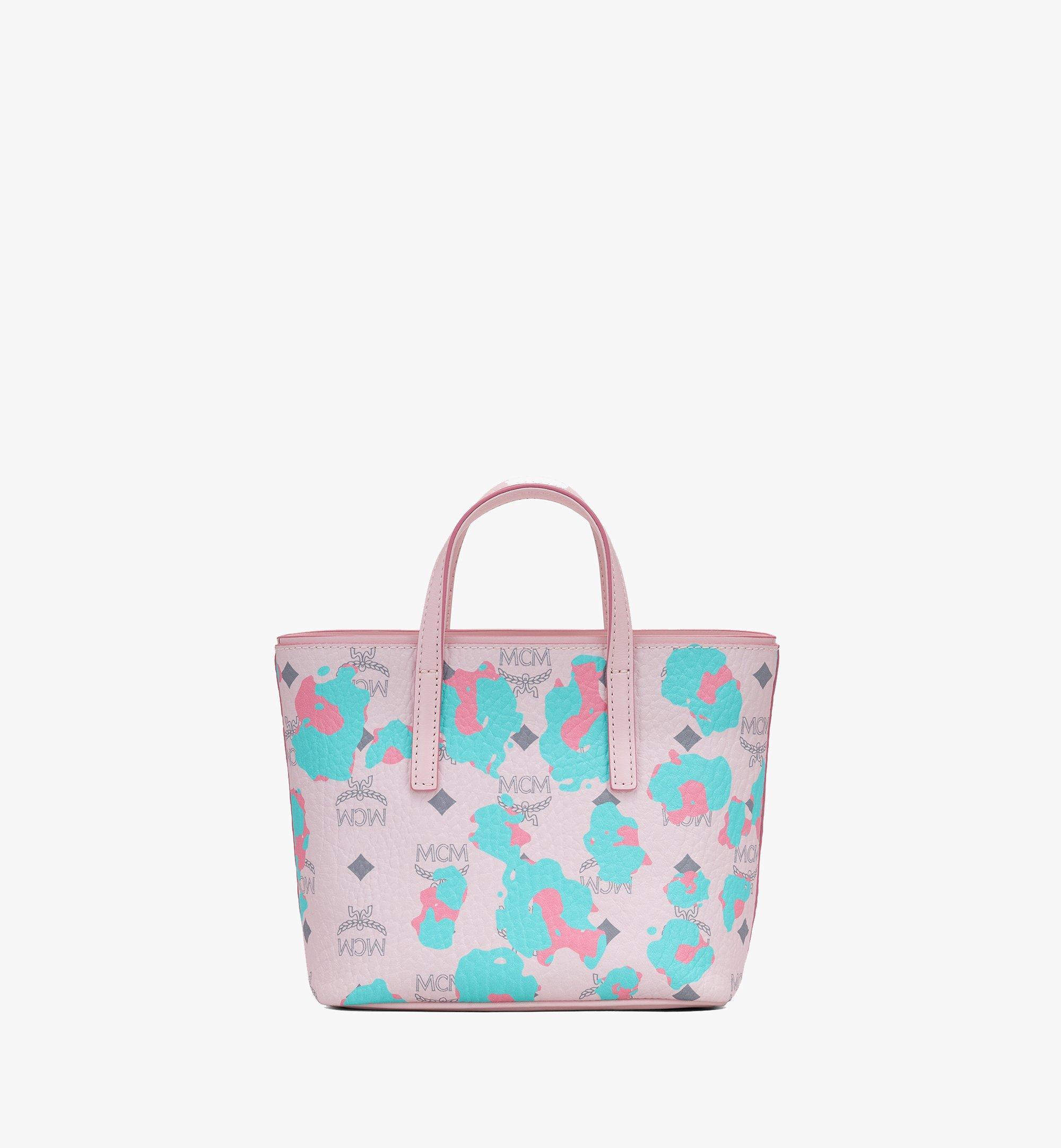 MCM Anya Shopper in Floral Leopard Pink MWPASVI04QI001 Alternate View 3