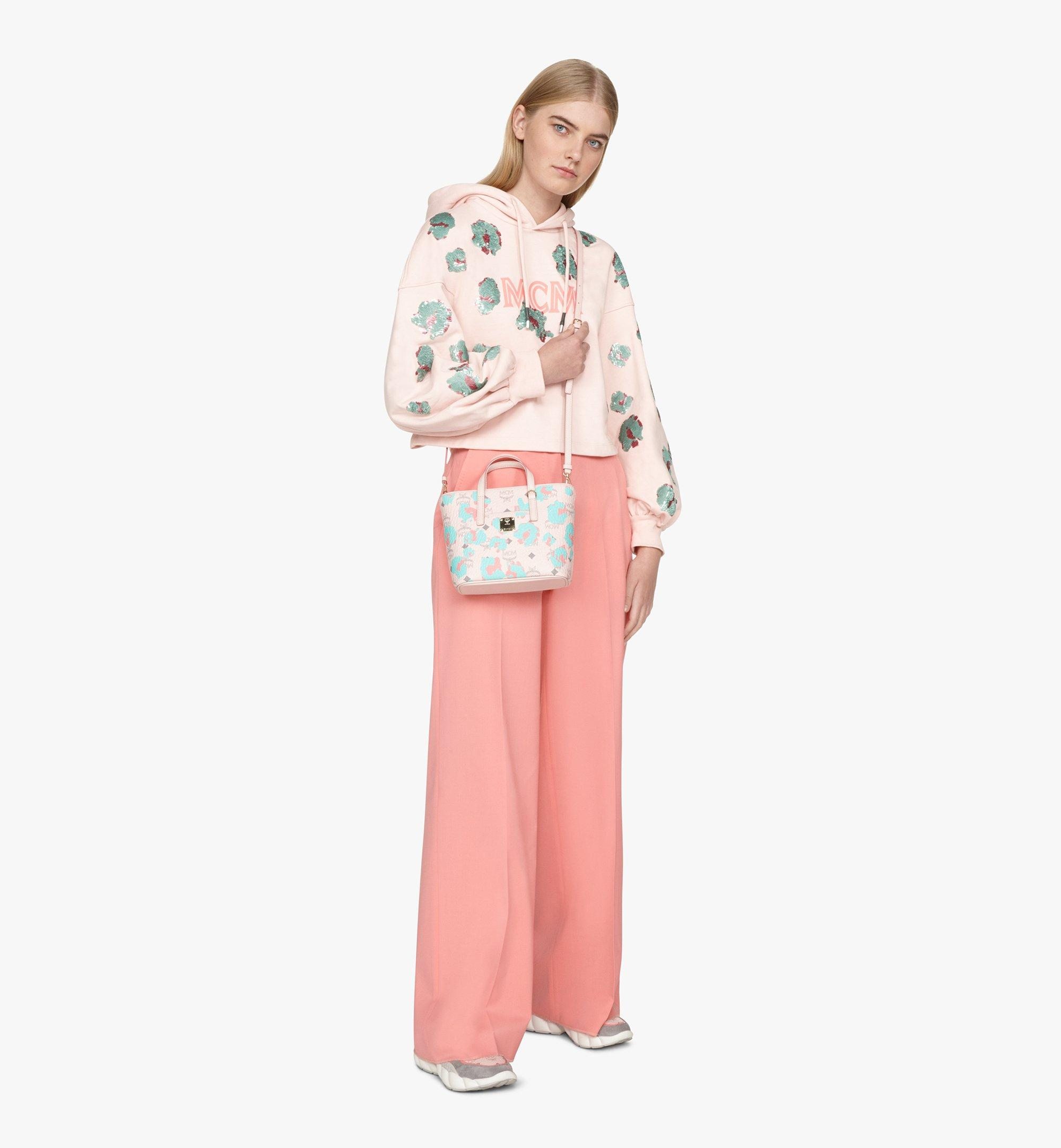 MCM Anya Shopper in Floral Leopard Pink MWPASVI04QI001 Alternate View 5