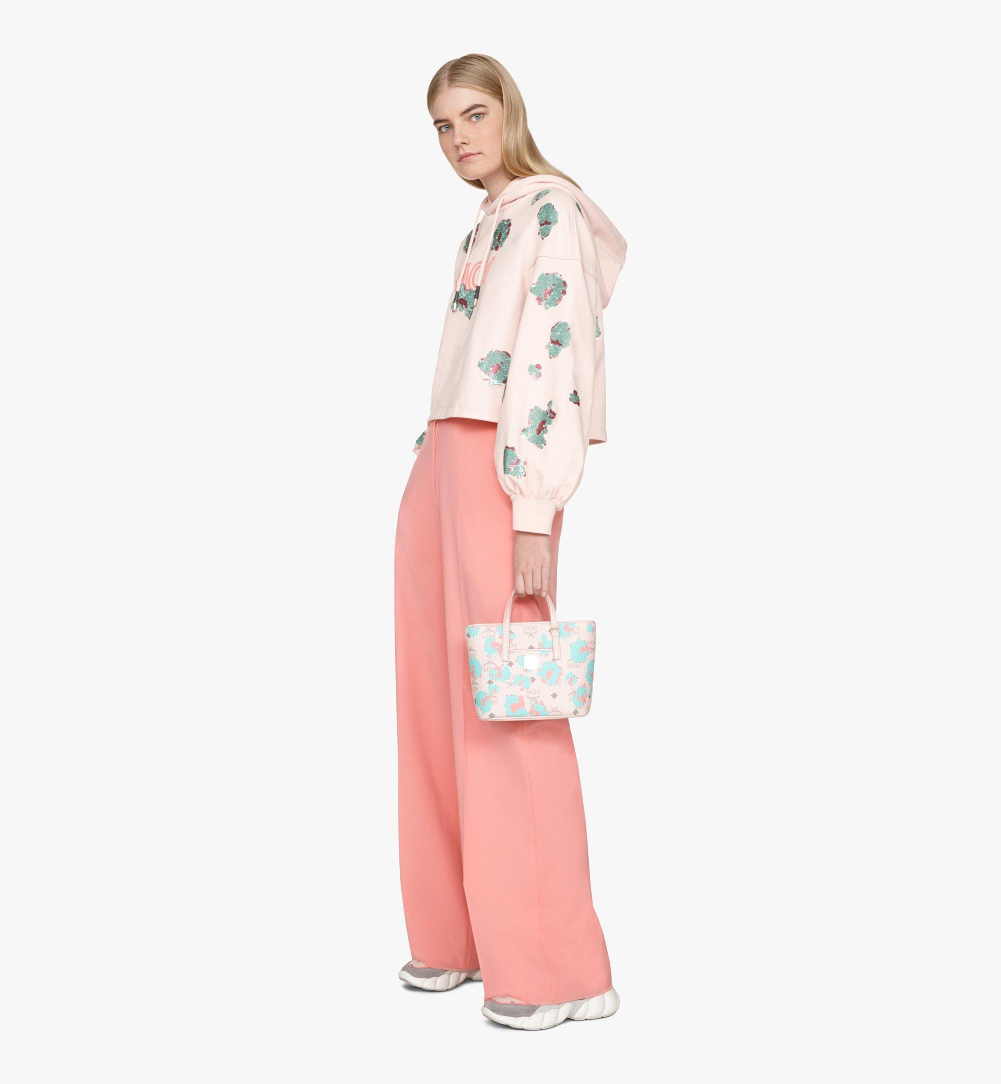 MCM Anya Shopper in Floral Leopard Pink MWPASVI04QI001 Alternate View 6