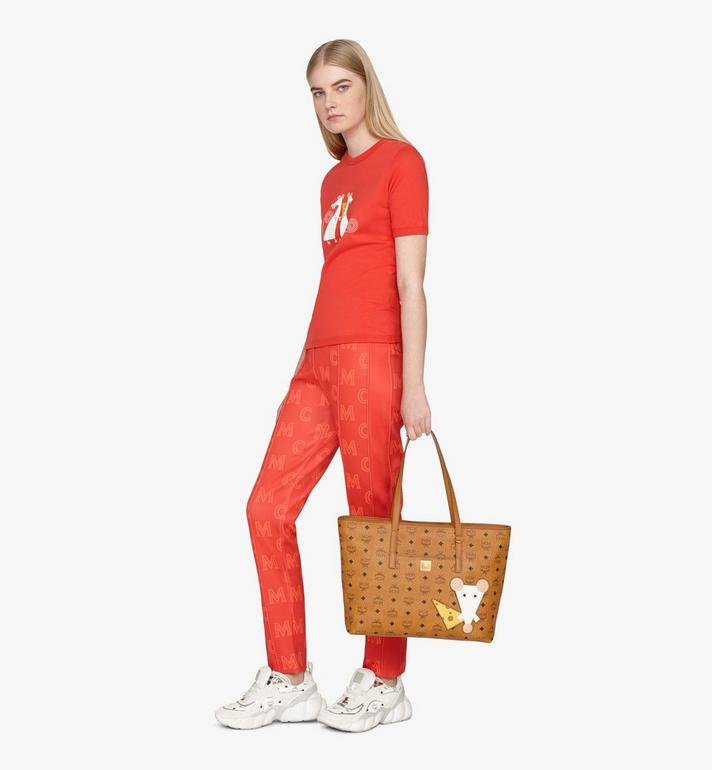 MCM Year Of The Mouse Anya Shopper in Visetos Cognac MWPASVI05CO001 Alternate View 5